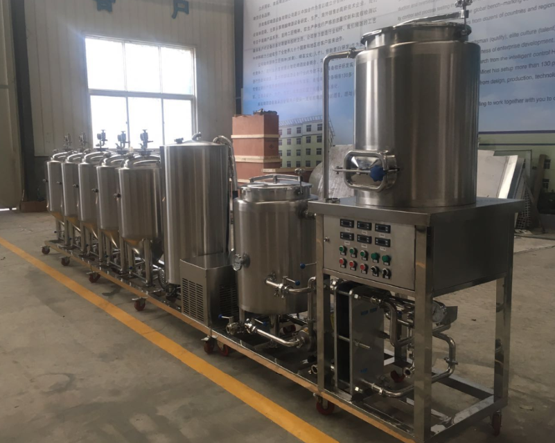 100L Skid mounted Pilot brewing equipment