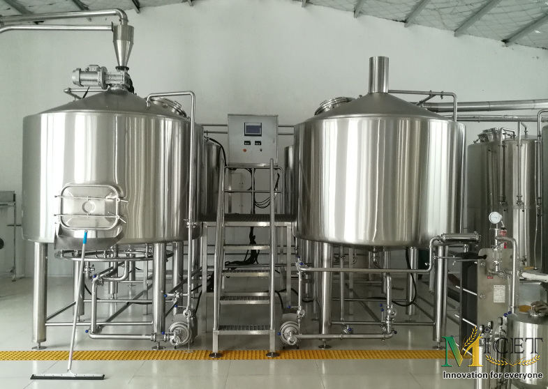 4000L 4 Vessel Commercial Beer Brewing Equipment
