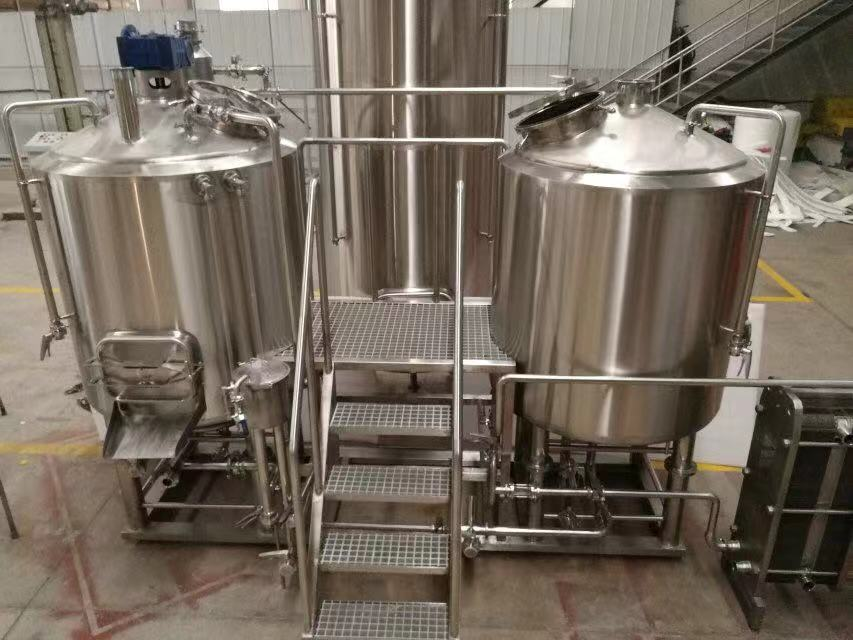 Completed brewhouse equipment, beer factory