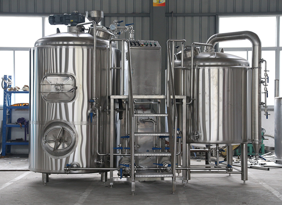 10BBL 2 tank 3 Vessel brewhouse for microbrewery